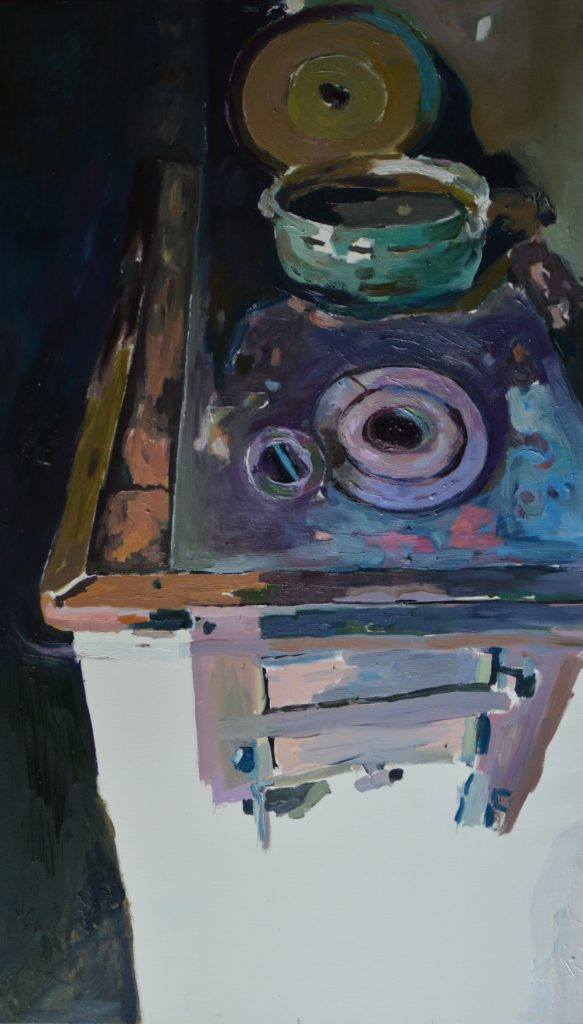 Pečius, Dr , al 120 X 65, 2017 - Furnace, 120 X 65, canvas, oil, 2017