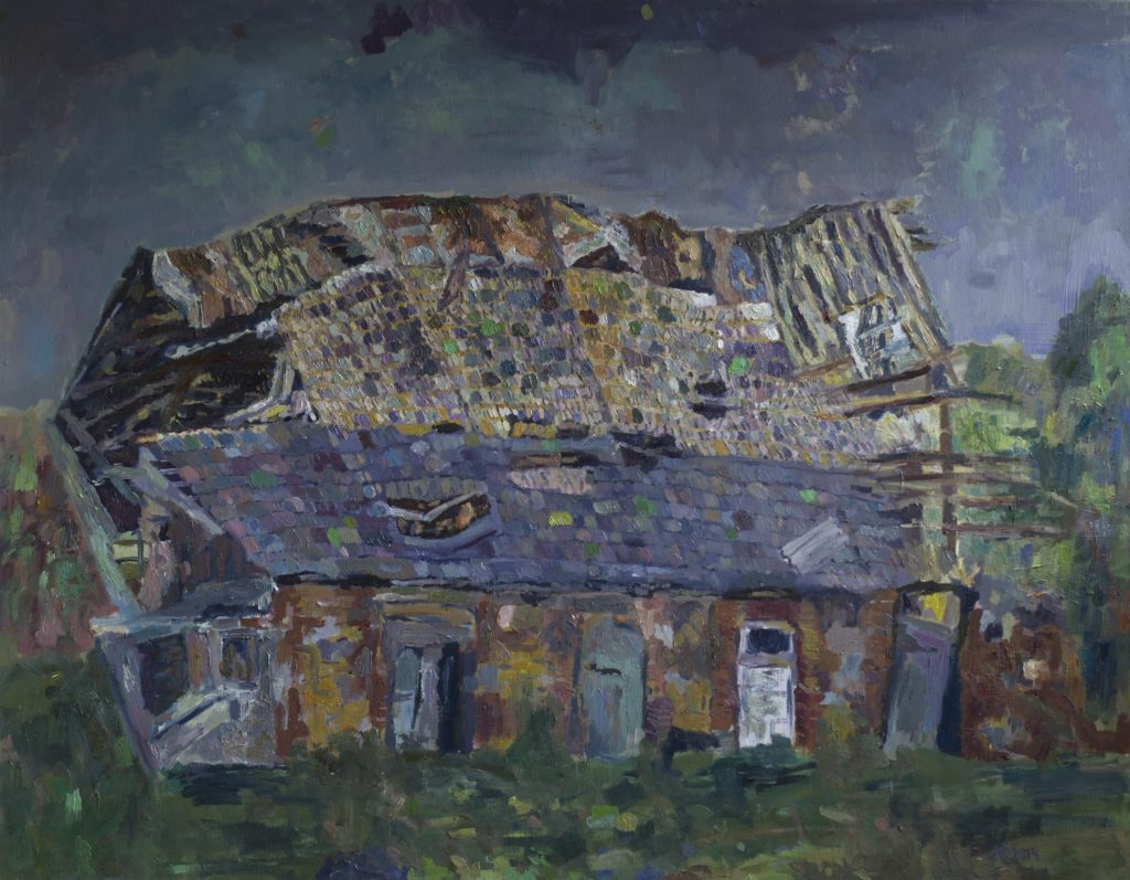 Pasakų namelis. dr, al 120 x 150, 2014 - Fairy house, oil on canvas, 120 X 150, 2014